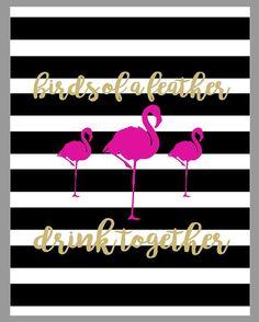 FlamingLE Print Bundle  Party Printable