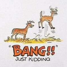 too funny!! Welcome Deer Season...all the men hit the woods and the wives go shopping!!!