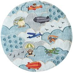 Lil Mo whimsy sky blue kids rug (Momeni)