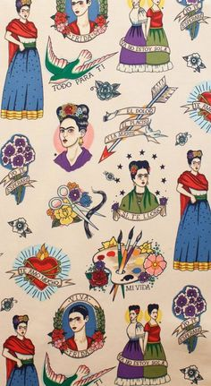 Mexican inspired apron perfect for artists lovers, cream background - Men's style, accessories, mens fashion trends 2020 Frida Art, Hawaiian Tattoo, Dance Shirts, Party Shirts, Work Shirts, Creative Art, Cosplay, Creme, Iphone Wallpaper