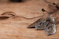 Sterling Silver Filigree Earrings Queen S Handmade by kaneh, €54.60
