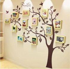 Unique family tree photo frame and decal,Unique family tree photo frame and decal - WallDecal Frames are decorative accessories that surround the moments you immortalize. Family Tree Picture Frames, Family Tree With Pictures, Family Tree Photo, Picture Wall, Wall Pictures, Family Wall Decor, Family Tree Wall, Tree Wall Art, Family Trees
