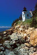 The Bass Harbor Head Lighthouse on Mount Desert Island in Maine