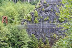 Lava Canyon Bridge is one of the most terrifying bridges you can cross in all of Washington. This cable suspension bridge can be reached by taking the Lava Canyon Trail in the Mount St. Helens area, and it bounces with almost every step the entire way. 3 miles round trip.