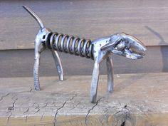 Plier Dog Metal Sculpture Yard Art Garden by rustaboutcreations