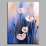 Big Size Hand-Painted Flowers Modern Art One Panel Canvas Oil Painting for Home Decoration Unframed 2017 - $65.44