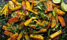 Curry roasted root vegetables with lime from The Guardian by Yotam Ottolenghi