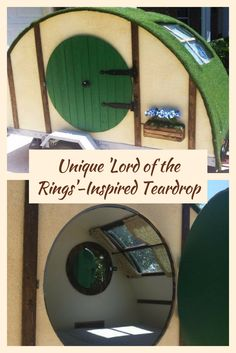 Unique \'Lord of the Rings\'-inspired teardrop camper - What do you think of this teardrop trailer, remind you of anything? :)