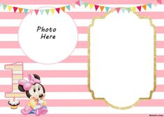Minnie Mouse Invitation Template Online Best Of Free Printable Minnie Mouse Birthday Invitations – Free Printable Birthday Invitation Templates 1st Birthday Invitation Template, Invitation Baby Shower, Minnie Mouse Birthday Invitations, Minnie Mouse First Birthday, Mickey Mouse Invitation, Free Printable Birthday Invitations, Photo Birthday Invitations, Minnie Mouse Party, Diy Invitations