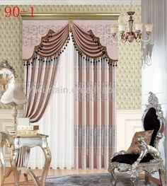 cortina de la ventana con la tela blackout para la sala de estar ...