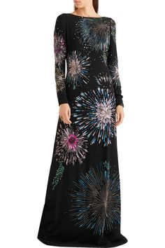 Shop on-sale Roberto Cavalli Embellished stretch-crepe gown. Browse other discount designer Dresses & more on The Most Fashionable Fashion Outlet, THE OUTNET.COM