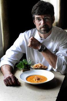 "Birmingham chef Chris Hastings vs. Food Network's Bobby Flay on ""Iron Chef America,"" airing Feb. 26."