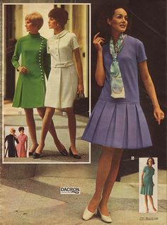 Easter 1969 | 1969, the green or violet dress will do just fine for this Easter.