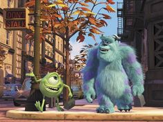 Wallpaper of Monsters, Inc. wallpaper for fans of Monsters, Inc. Walt Disney, Downtown Disney, Cute Disney, Disney Magic, Disney Pixar, Mike E Sulley, Mike And Sully, Mike Wazowski, Brave Pixar