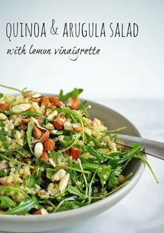 Quinoa & Arugula Salad with Lemon Vinaigrette | A Nutritionist Eats