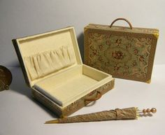 Signed Artisan Miniature Victorian Luggage Set by Jilienne | eBay