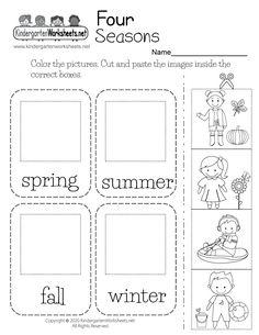 Free Printable Four Seasons Worksheet