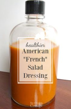 American French Dressing for Salads Tomato-based French dressing for salads made healthier with a lot less sugar and only real food ingredients.Tomato-based French dressing for salads made healthier with a lot less sugar and only real food ingredients. French Salad Dressings, Salad Dressing Recipes, Sauce Recipes, Whole Food Recipes, Cooking Recipes, Cooking Tips, Healthy Recipes, Homemade French Dressing, Main Dish Salads