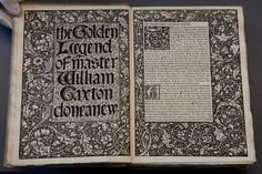 Jacobus, c.1229-1298. The Golden Legend. Volumes 1 & 2 Hammersmith, Kelmscott Press ; sold by B. Quaritch, London 1892. Original half linen binding. Only 500 copies printed.