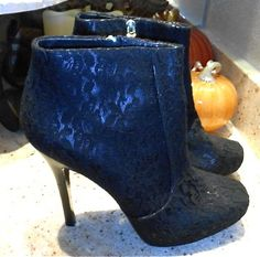 NEW House of Harlow Leslie Lace Platform Ankle Boots Booties Shoes 39.5 9.5 - $65 on Ebay