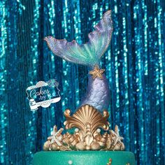 like the tail movement Mermaid Tail Cake, Little Mermaid Cakes, Little Mermaid Parties, The Little Mermaid, Kids Birthday Themes, 8th Birthday, Beach Cakes, Unicorns And Mermaids, Barbie Party