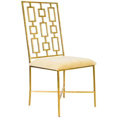 Worlds Away Dining Chair with Velvet Seat DAVID GBEIGE