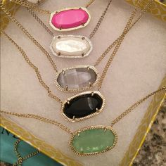 Kendra Scott Dylan NWT. All are listed separately in my closet. I LOVE THEM ALL!! Discontinued ❌ no trades. Less on M. Price here is FIRM. Kendra Scott Jewelry Necklaces