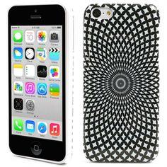 iPhone 5C Hårt Skal - Cirklar - Svart   Vit Iphone 5c bd882686bad87