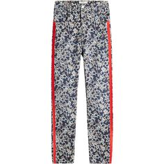 Isabel Marant Étoile Fliff Printed Trousers ($470) ❤ liked on Polyvore featuring pants, multicolored, colorful pants, slim fitted pants, multi color pants, slim fit pants and multi colored pants