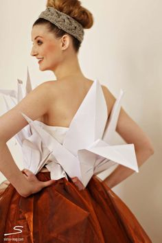 Origami crane top and organza skirt from the cover of sisterMAG N°4. Photo by @chasingheartbts