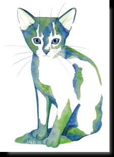 Feline art postcards - My CMS Watercolor Cat, Watercolor Animals, Cat Drawing, Line Drawing, Chats Image, Cat Attack, Cat Sketch, Animal Sketches, Cat Supplies