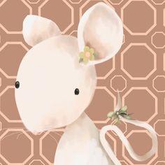 Mimi Mouse Canvas Art