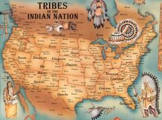 This is a map of American native tribe nations. This map also includes pictures of Indian tribes. Native American Map, American Indians, American Art, Cree Indians, American Symbols, Seneca Indians, Mohawk Indians, Shawnee Indians, American Code