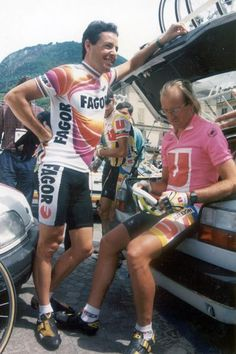 Stephen Roche and Laurent Fignon Stage 17 1989 Giro d'Italia