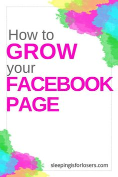 Having a Facebook PAGE is still one of the best ways to grow a dedicated fan base that reads all your content, supports your work, and buys from you.