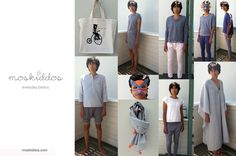 Moskiddos lookbook featuring circus masks by Opposite of Far