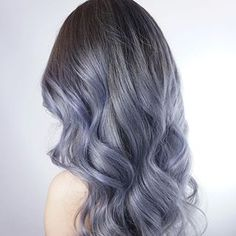It looks just like your favorite pair of blue jeans. | Denim Hair Is The Latest Hair Color Trend And It's Ridiculously Beautiful