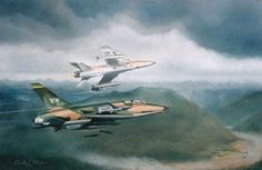 Looking for trouble - F105 thunderchief Aviation Art