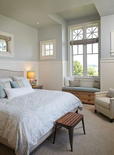 Bedroom Paint Color. Sherwin Williams 6217 Topsail. #SherwinWilliams6217Topsail  #BedroomPaintColor Francesca Owings Interior Design.