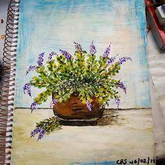pintura em acrílico