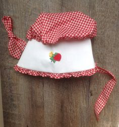 A personal favorite from my Etsy shop https://www.etsy.com/listing/458062886/childs-vintage-bonnet-red-white-checked