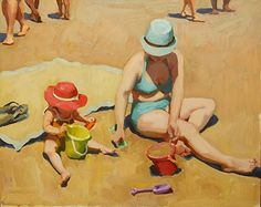 Jennifer Diehl - Play Date- Oil - Painting entry - August 2016 | BoldBrush Painting Competition
