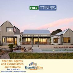 We find you the best property to buy, best price to sell and best way to fulfil all your property requirements. Homesulike.com is a property market where you can find best deals on all types of properties whether it's residential, commercial or rental. We even assist you in your property search by just dialling us 040-66666616 For Exciting offers visit http://www.Homesulike.com
