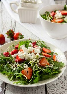 Strawberry Arugula Feta Spring Salad