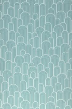 In white and pastel turquoise, model Fanti is particularly refreshing. There is no limit to personal associations and interpretations for this retro wallpaper with vinyl surface. The soft grooved structure of the pattern provides a stunning haptic effect.  #interiordesign #wallpaper #turquoisewallpaper Turquoise Wallpaper, Velvet Wallpaper, Retro Wallpaper, Wallpaper Samples, Pattern Wallpaper, Turquoise Walls, Green Turquoise, Pastel, Wallpapers