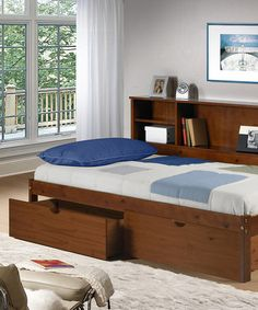 Take a look at this Cherokee Bookcase & Under Bed Drawer Twin Bed Set by Donco Kids on #zulily today!