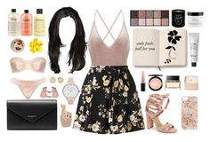 """""""pink"""" by onlynat ❤ liked on Polyvore featuring Miss Selfridge, Steve Madden, By Terry, Moleskine, philosophy, Maison Bereto, Baxter of California, Anrealage, L'Agent By Agent Provocateur and Balenciaga"""