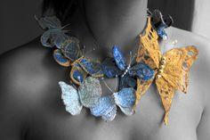 Butterfly - textile neckpiece