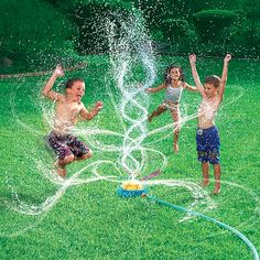 looks way more fun than the lawn sprayer i used as a kid! Kids Geyser Blast Sprinkler!