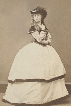 Victorian actress Ellen Terry at age 16, 1863. Around this time (about a week before her 17th birthday) she would marry the artist George Frederick Watts, who was 30 years her senior.